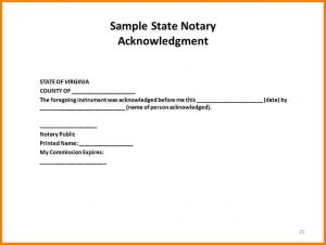 how to notarize a letter state of texas notary statement slide