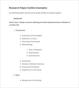 how to outline a research paper blank research paper outline example