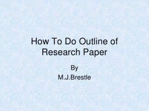 how to outline a research paper outline of research paper