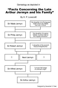 how to outline a story genealogy of arthur jermyn