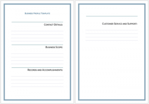 how to write a bid proposal business profile template for word x