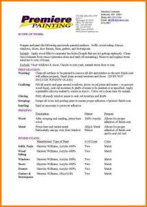how to write a bid proposal sample bid proposal interior painting proposal sample
