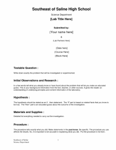 how to write a chemistry lab report formal lab report template x