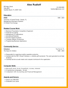 how to write a high school resume how to make a resume with no job experience entry level resume community service