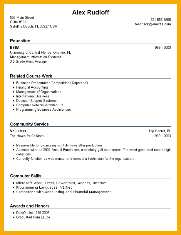 how to write a high school resume