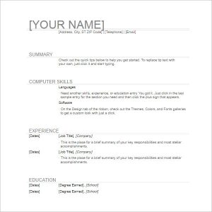 how to write a high school resume simple general resume template