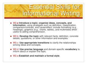 how to write a informative essay common core informativeexplanatory writing