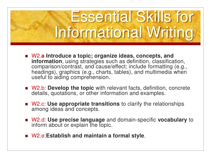 how to write a informative essay