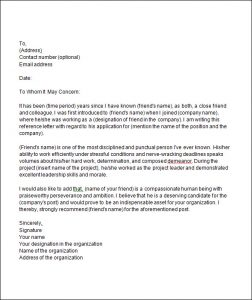 how to write a letter of recommendation for a friend college recommendation letter from a friend