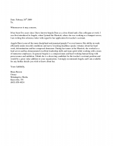 how to write a letter of recommendation for a friend personal recommendation letter for a friend sample