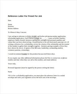 how to write a letter of recommendation for a friend reference letter for friend for job