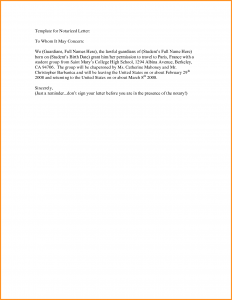 how to write a notarized letter notarized letter format sample notarized letter template