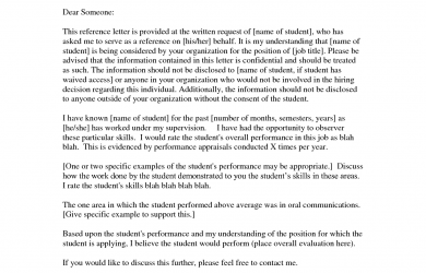 how to write a recommendation letter for a teacher business reference letter template