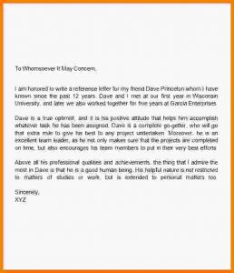 how to write a recommendation letter how to write a reference letter for a friend letter of recommendation for a friend image 22 resize6002c700