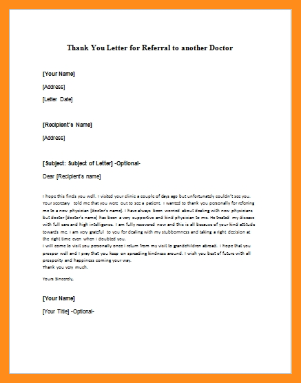 how to write a referral letter