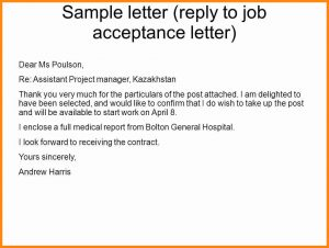 how to write an application job offer acceptance letter reply slide