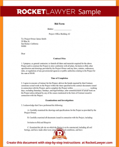 how to write an application sample bid proposal sample bid form form template