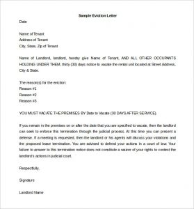 how to write an eviction notice how to write day eviction notice letter sample