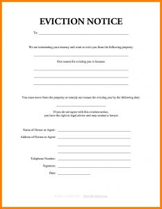 how to write an eviction notice how to write an eviction letter