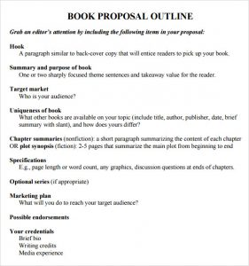 how to write an outline for a book book proposal outline template