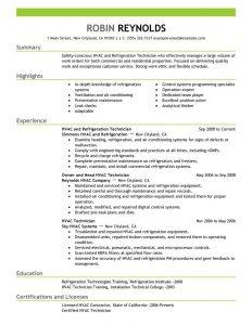 hvac resume samples hvac technician resume getessaybiz