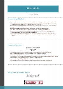hybrid resume template combination resume template