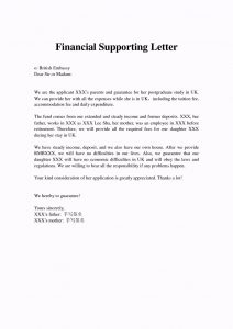 immigration letter of support for a family member financial support letter from parents