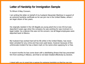 immigration letter of support for a family member letter of hardship letter of hardship for immigration sample