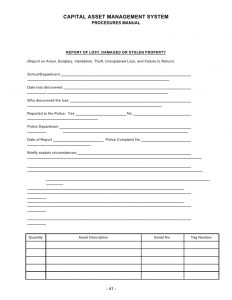 incident report form template word inventory manual and inventory forms