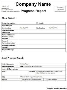 incident report template word progress report template