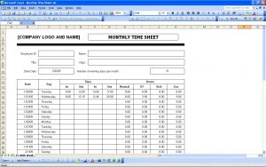 income statement excel simple timesheet template