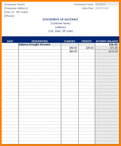 income statement excel statement of account template excel statement of account