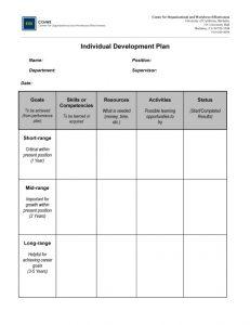 individual development plan individual development plan x