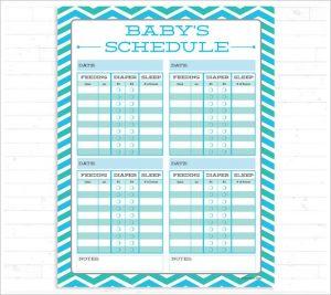 infant feeding schedule printable baby feeding schedule instant download