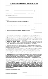 installment payment agreement promise to pay rent agreement