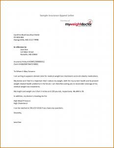 insurance appeal letter appeal letter for insurance claim denial