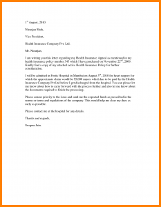 insurance appeal letter sample appeal letter to insurance company