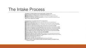 intake form template behavioral health orientation