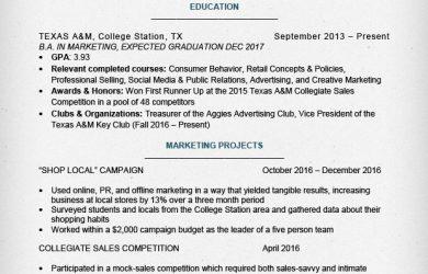 internship resume template internship resume sample