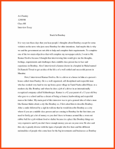 interview essay example  template business interview essay example interview paper example top example of an interview  essay a narrative papers sample