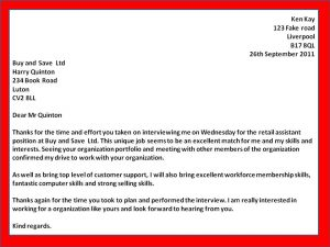 interview follow up email template thank you letter to interviewer