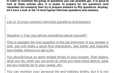 interview follow up email template we prepared for you a list of most typical interview questions