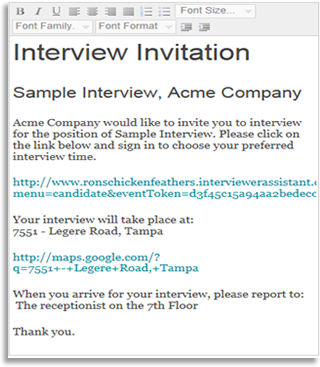 interview request email