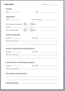 interview schedule template bildschirmfoto um
