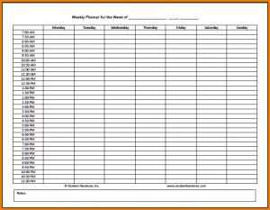 interview schedule template hourly schedule weekly hourly planner