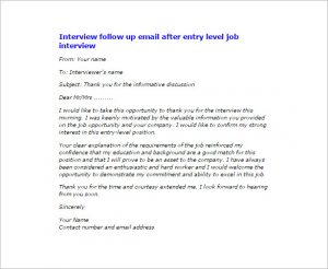 interview thank you email subject line interview follow up email after entry level job interview