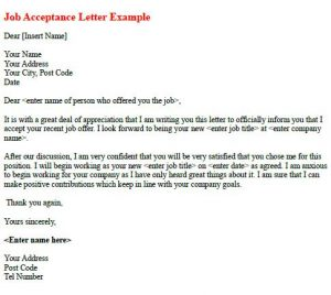 interview thank you email subject line job acceptance letter example