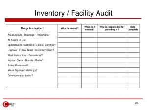 inventory sheet template kaizen forms checklists
