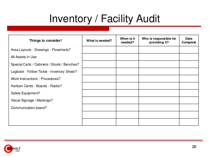 inventory sheet template