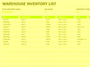 inventory spreadsheet template warehouse inventory excel spreadsheet sample